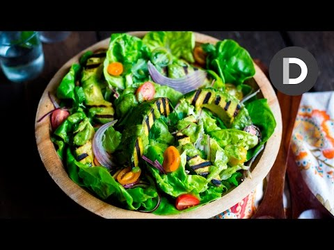 Green Goddess Grilled Avocado Salad