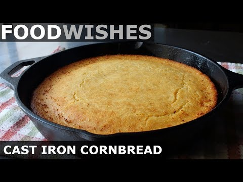 Cast Iron Cornbread - Honey Butter Cornbread - Food Wishes