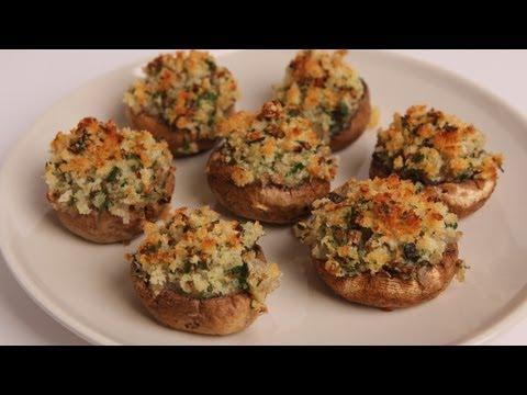 Breadcrumb Stuffed Mushrooms Recipe - Laura Vitale - Laura in the Kitchen Episode 330