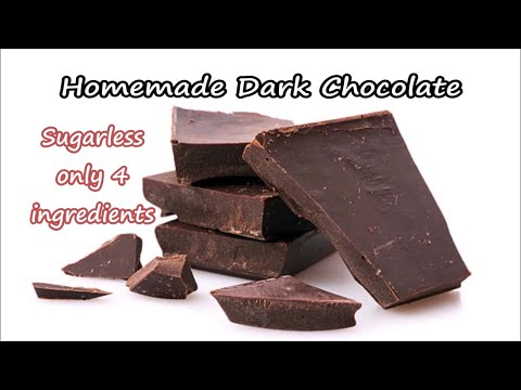 Homemade Dark Chocolate Recipe | How to Make Homemade Dark Chocolate Video