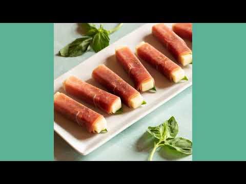 3-Ingredient Prosciutto Wrapped Mozzarella Sticks