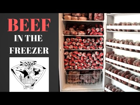 Freezer Full of Fresh Grass Fed Beef