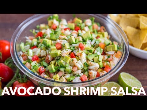 Loaded Avocado Shrimp Salsa Recipe - Homemade Shrimp Salad