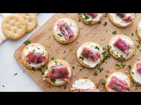 How to Make Easy Creamy Prosciutto Cracker Appetizer