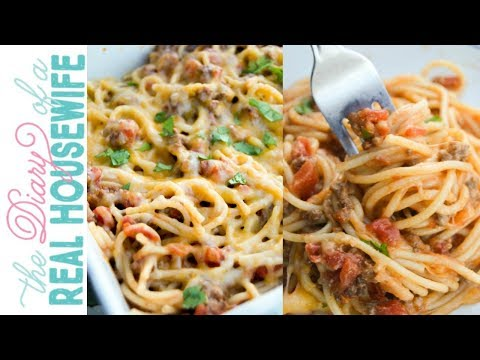 Taco Spaghetti | The Diary of a Real Housewife