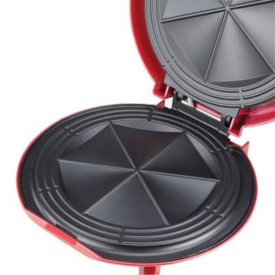 Non-stick quesadilla maker opening up