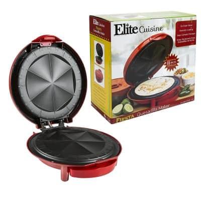 5. Elite Cuisine Non-Stick Quesadilla Maker