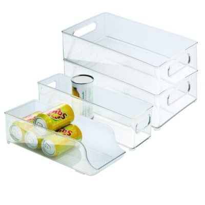 storage compartments fridge