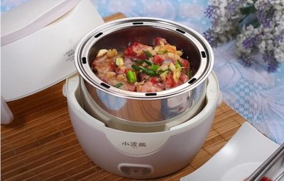steaming meat with rice cooker