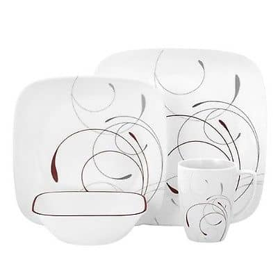 9. Corelle Square 16-Piece