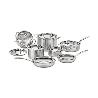 5.  Cuisinart Multiclad Pro Cookware Set