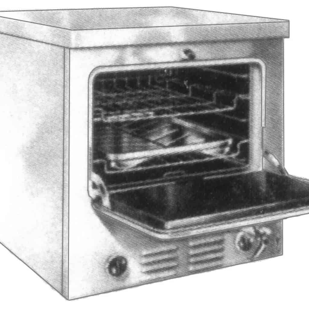 gas oven built