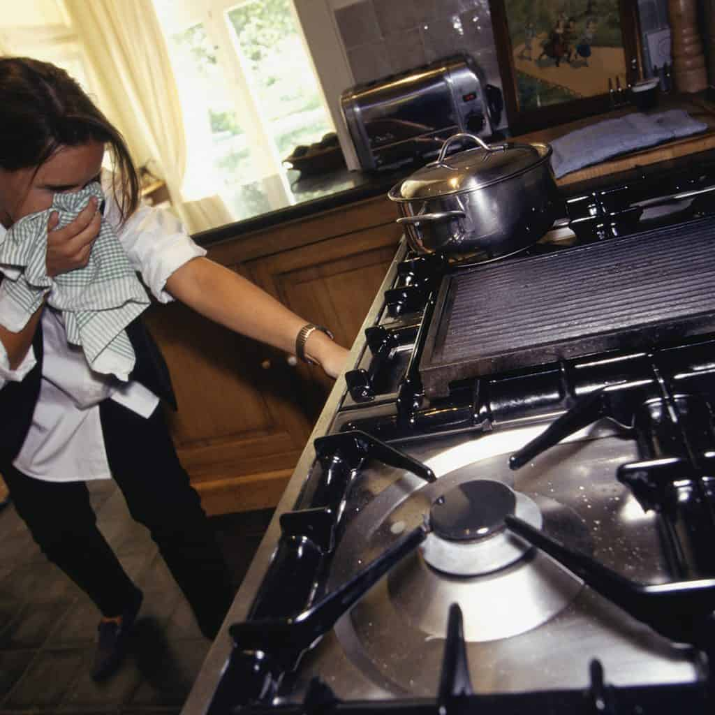 gas oven leak
