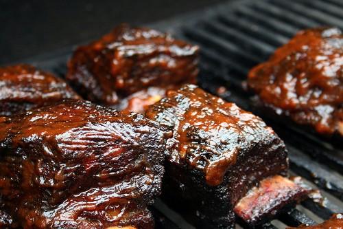 short rib on grill