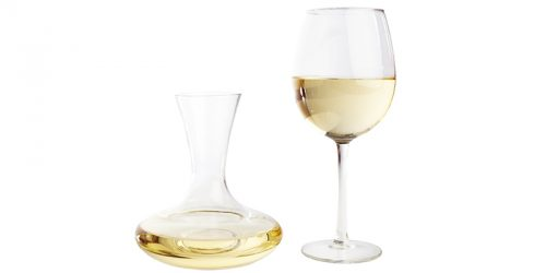 decanting white wine