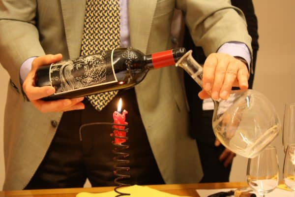 decanting with a light
