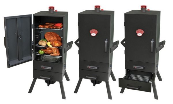 upright charcoal smoker