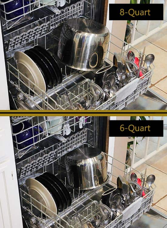 6-qt vs 8-qt pot sizes in dishwasher