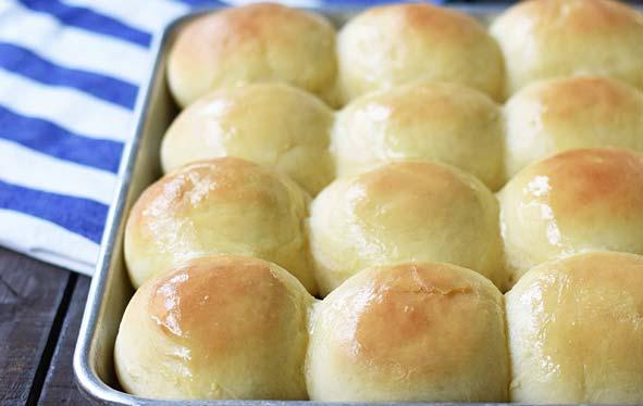 Side of bread rolls