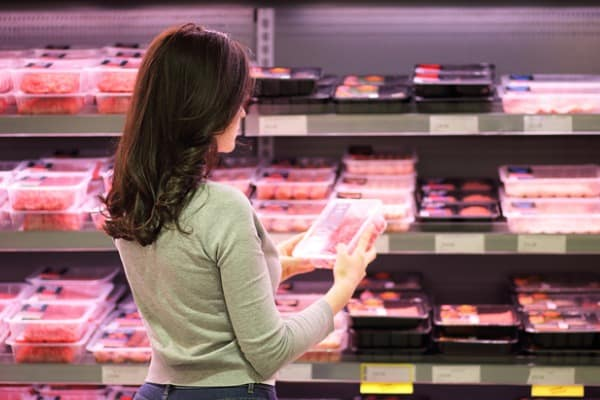 Shopping to freeze meat for meals
