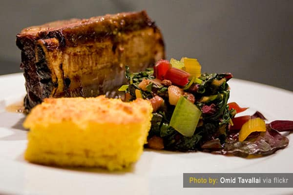 Cornbread with BBQ Ribs