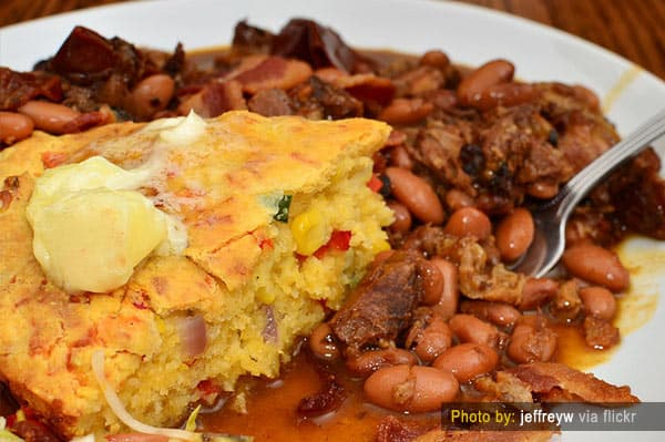 Cornbread and Beans