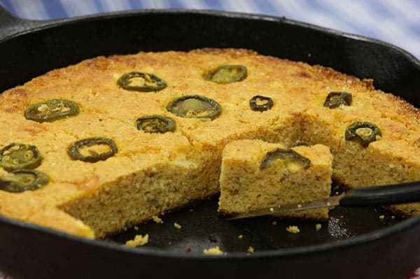 Jalapenos and cornbread