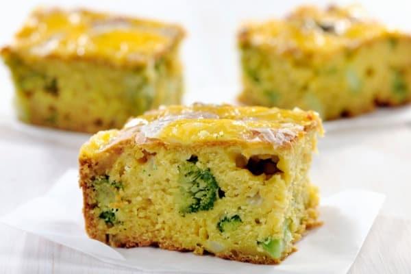 Green veggies and Cornbread