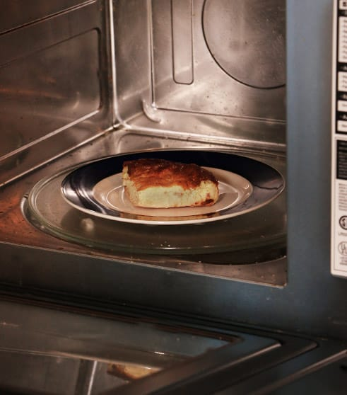 Heating up quiche in the microwave
