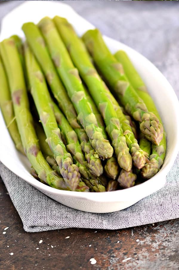 Steam a side of asparagus