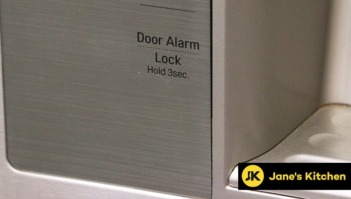 Alarm for fridge door on a Samsung model
