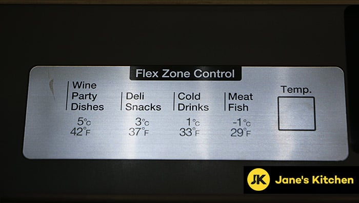 Fridge temp controls