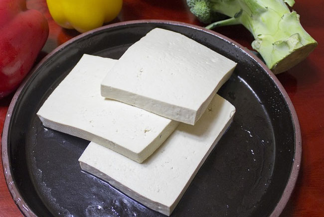 The familiar bland tasting tofu