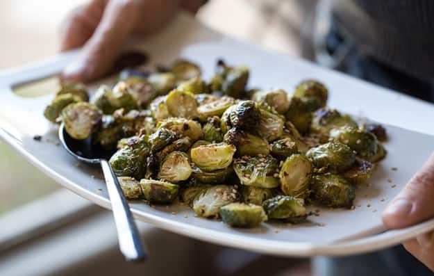 Brussels spouts roasted just right