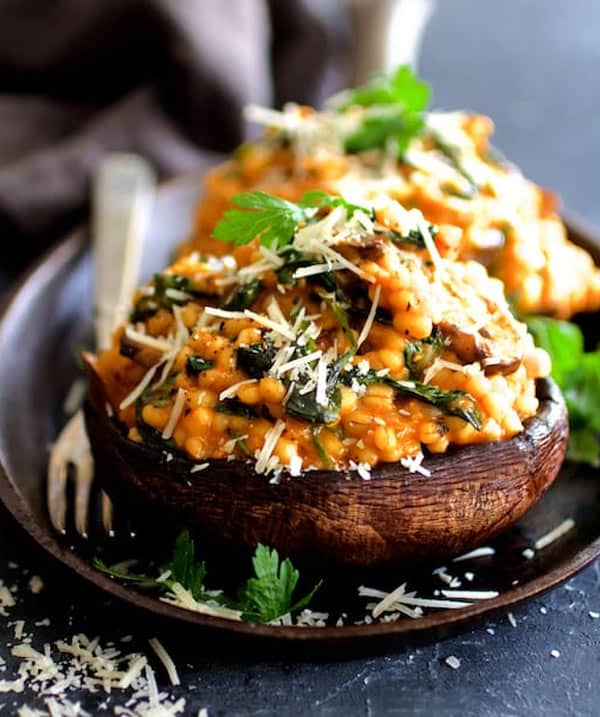 Stuffed Risotto mushrooms