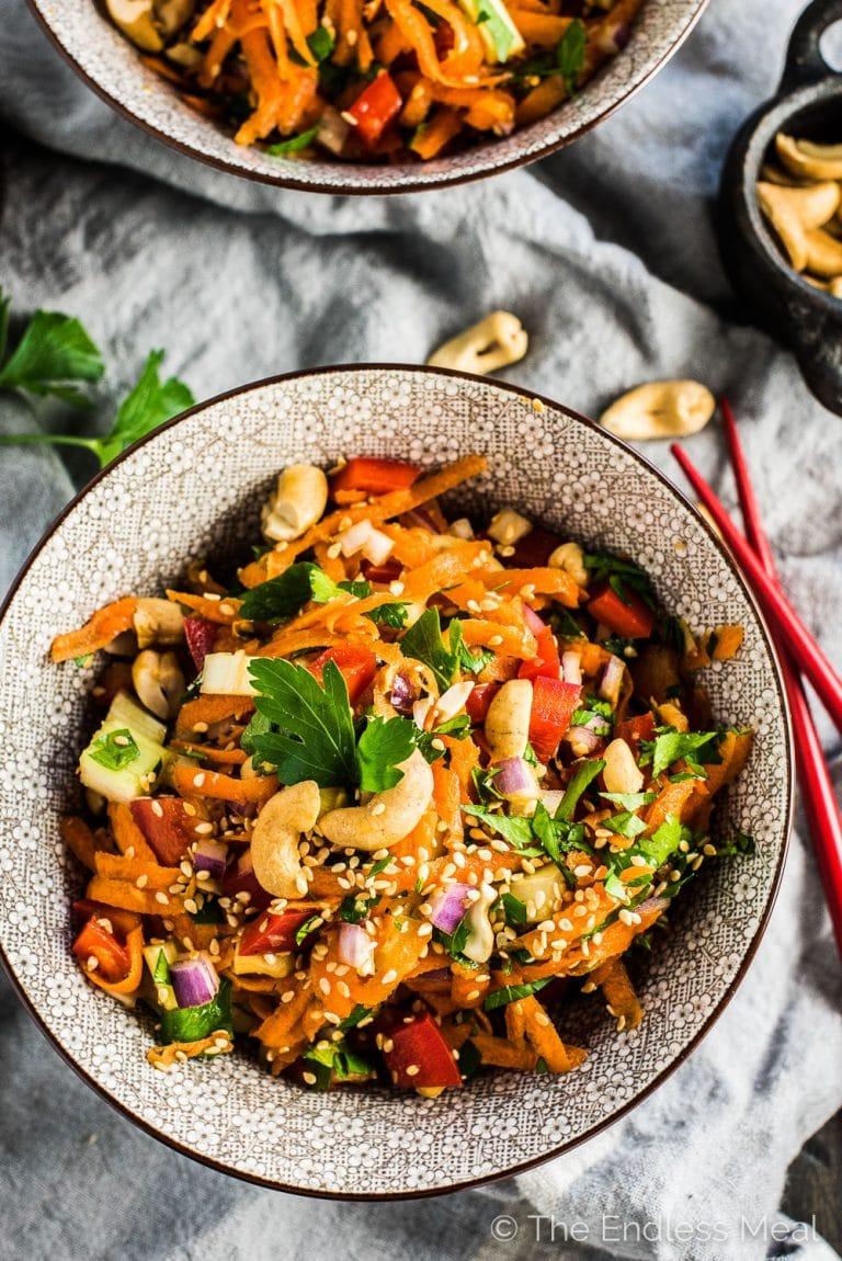 Ethnic side salad