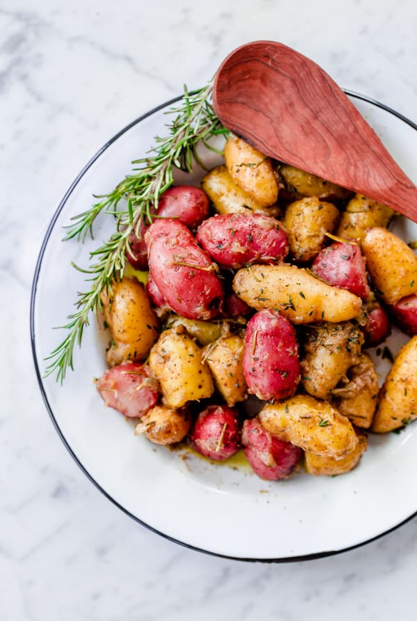 Fingerling potatoes in a side bowl