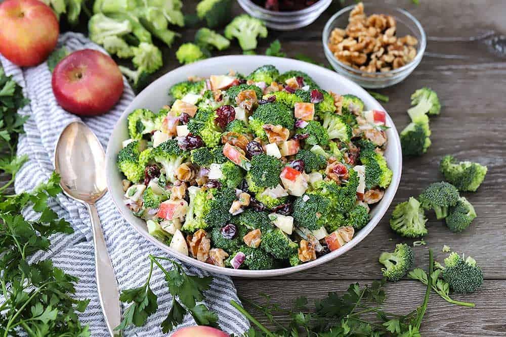Fruit and broccoli