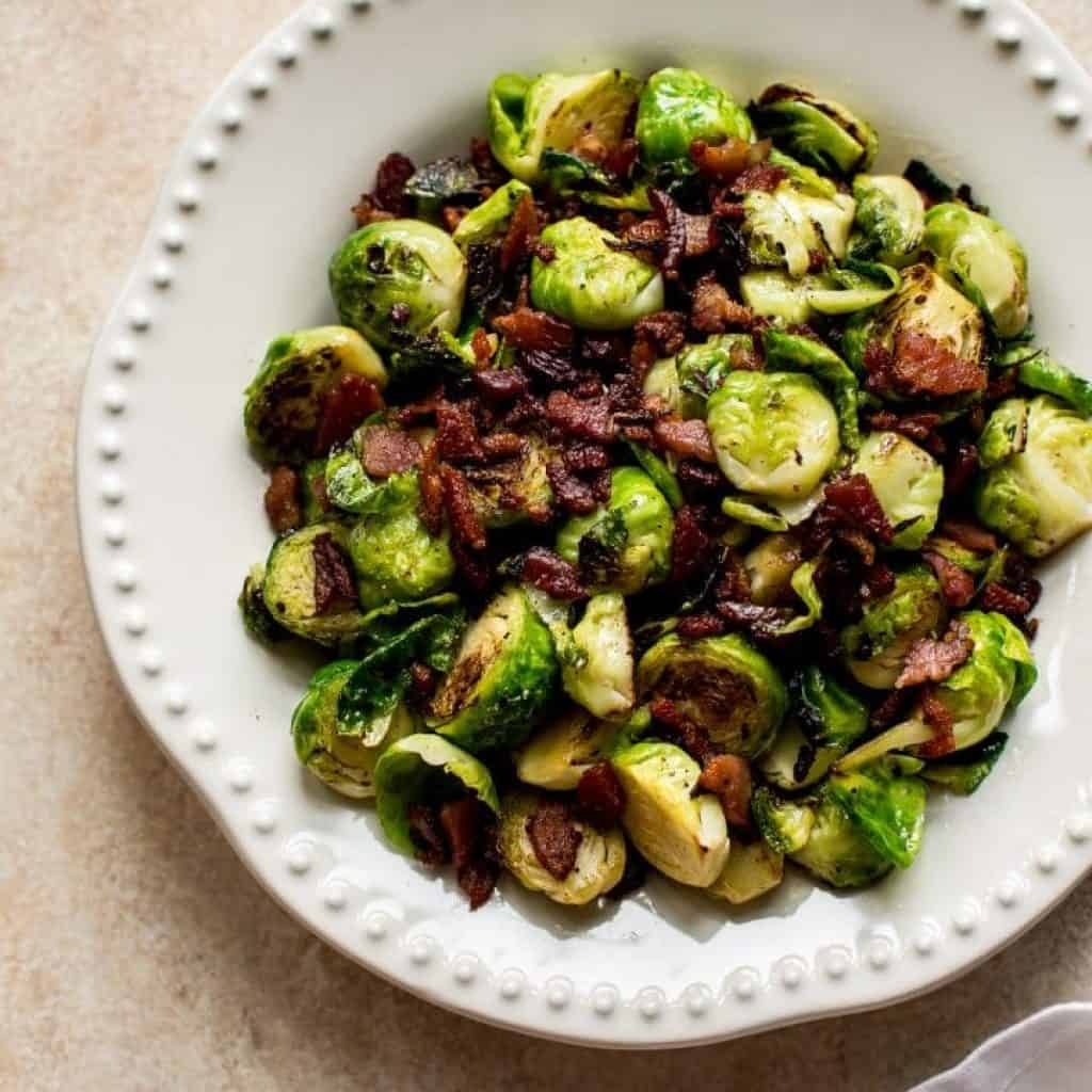 Easy Brussels Sprouts and Bacon