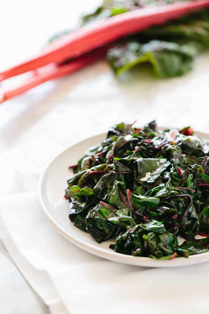 Garlic Sautéed Swiss Chard side dish