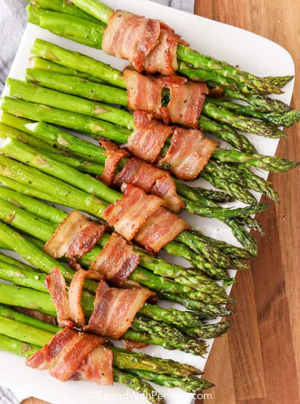 Bacon asparagus side dish