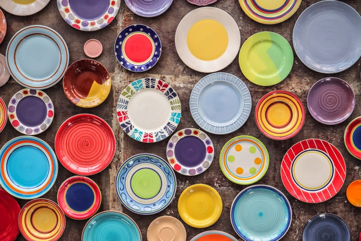 Best colorful plate sets