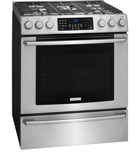 Front-control gas range
