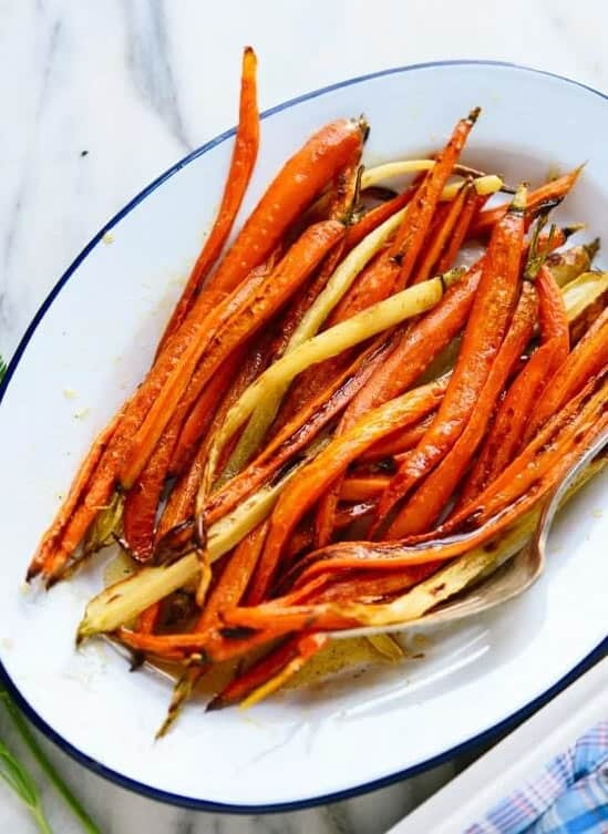 Serve honey carrots with meatloaf