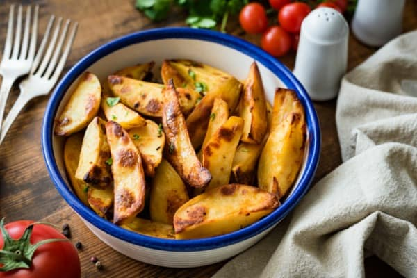 Roasted potatoes as side dish