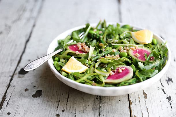 Asparagus side salad