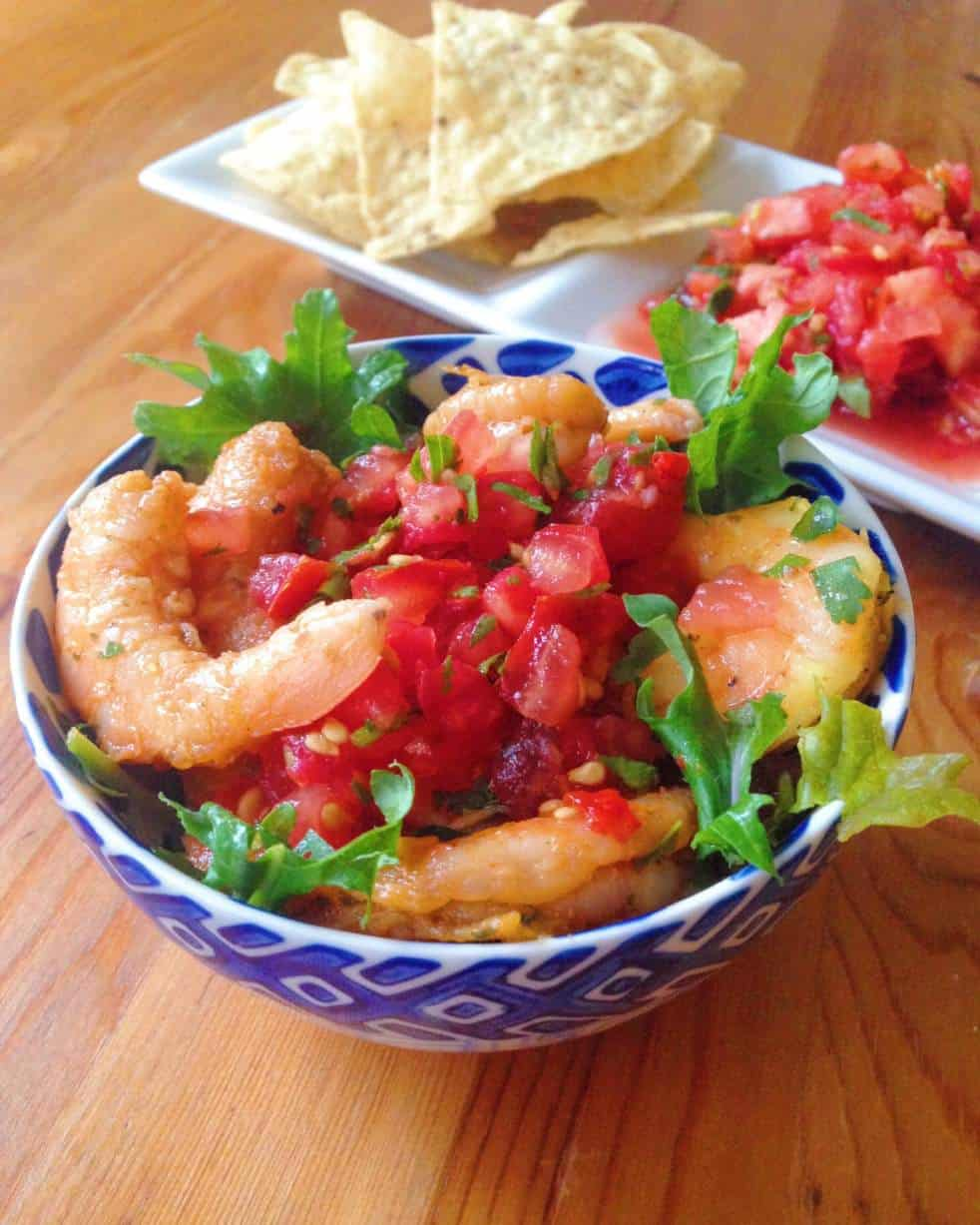 shrimp ceviche as a side dish