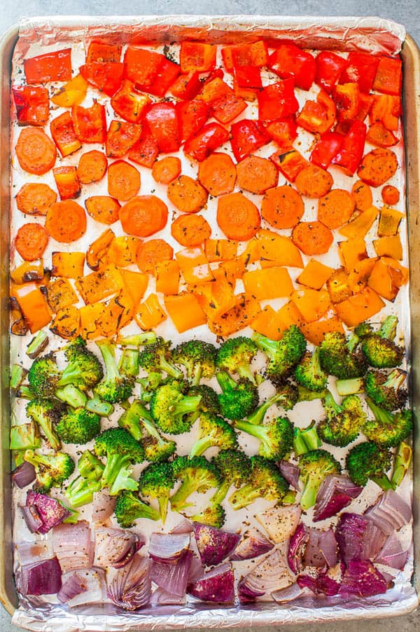 Assorted roasted veggies