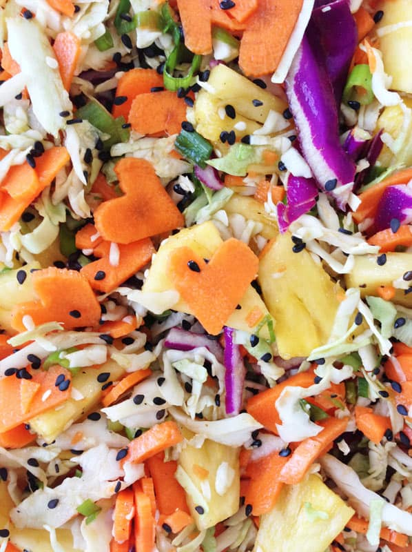 Hawaiian coleslaw side