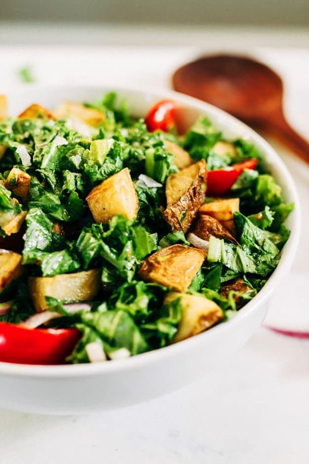 Mustard greens salad
